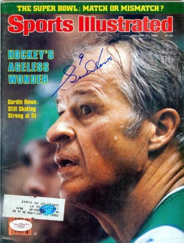 Gordie Howe autographed Sports Illustrated Magazine (JSA Authenticated) - Autographed NHL Magazines