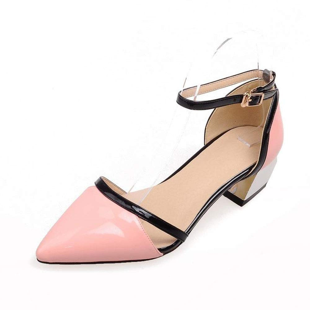 Pink Heels Pointed Toe Party Prom Black White Pink Women Sandals shoes Women