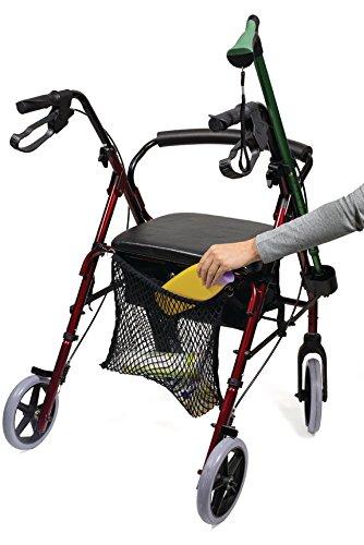 Premium Einkaufs Netz Trage Tasche für Rollator Gehwagen Gehhilfe / Rollstuhl / Kinderwagen
