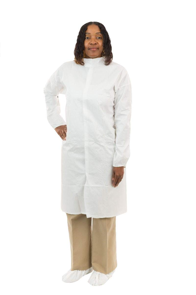 Amazon.com: GammaGuard CE Sterile Frock (White) with Tunnelized Elastic Wrist, Individually Packaged (2XL, Case of 50): Industrial & Scientific