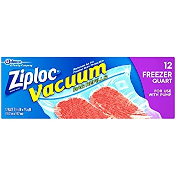 Amazon Com Ziploc Vacuum Starter Kit 3 Quart Bags 1