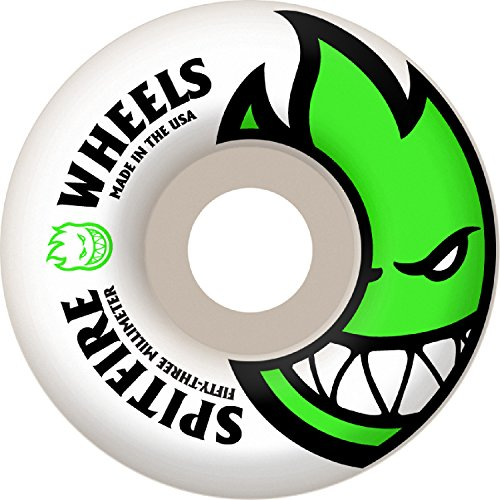 Spitfire Bighead Skateboard Wheel 53mm Green (Spitfire Wheels 53mm)
