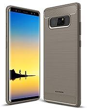 EZZYMOB® Samsung Galaxy Note 8, afdekking van de behuizing, duurzame hybride soft-siliconen behuizing, stootvaste beschermhoes van TPU-rubber, design koolstofvezel voor Samsung Galaxy Note 8