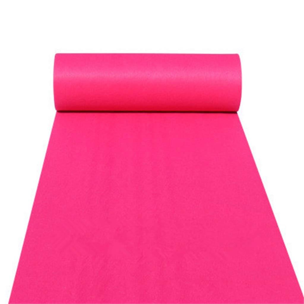 Rose Red Wedding Carpet Espesante 2MM Alfombra Rollo Boda Alfombra/Ceremonia Pasillo/Escenario Alfombra LIYIN-Alfombra