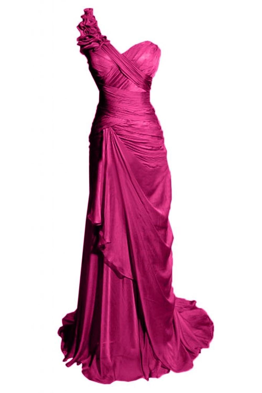 Sunvary Robe Longue Robe de Soir篓|e Robe de Demoiselle d'Honneur Robe de Cocktail sans Bretelles Col en C?ur A-Ligne avec Paillettes, Faux Diamants en Chiffon