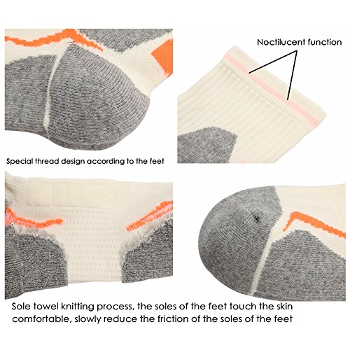 6 Pairs 5 Cushion Socks Professional 12 Size Antibacterial Outdoors Hiking Anti smell nw8xCpqagO