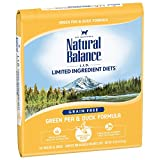 Natural Balance Limited Ingredient Diets Green Pea & Duck Formula Dry Cat Food, 10 Pounds, Grain Free