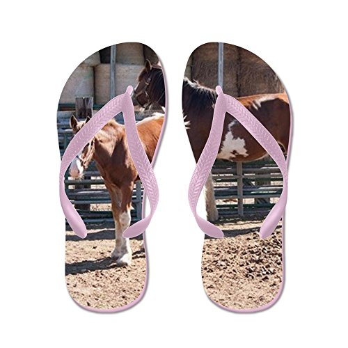 Cafepress Clydesdales - Tongs, Sandales Rigolotes, Sandales De Plage Rose