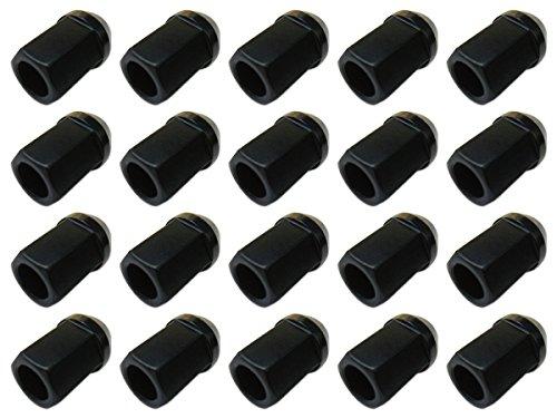 【20個入】【ホイールナット】19H34mm貫通黒M12×P1.25【アルミ製】【日産スバルスズキ適合】 B00D5N5G44
