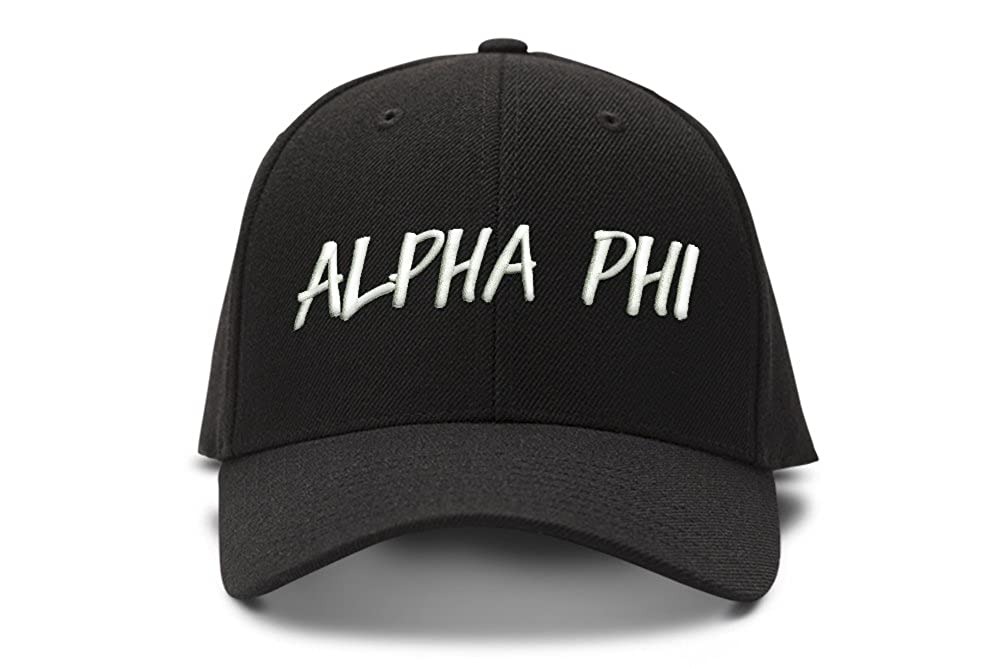 Amazon.com  The Turnipseed Co Alpha Phi Casual Block Low Profile Dad Hat Cap   Clothing ae5319e51a1