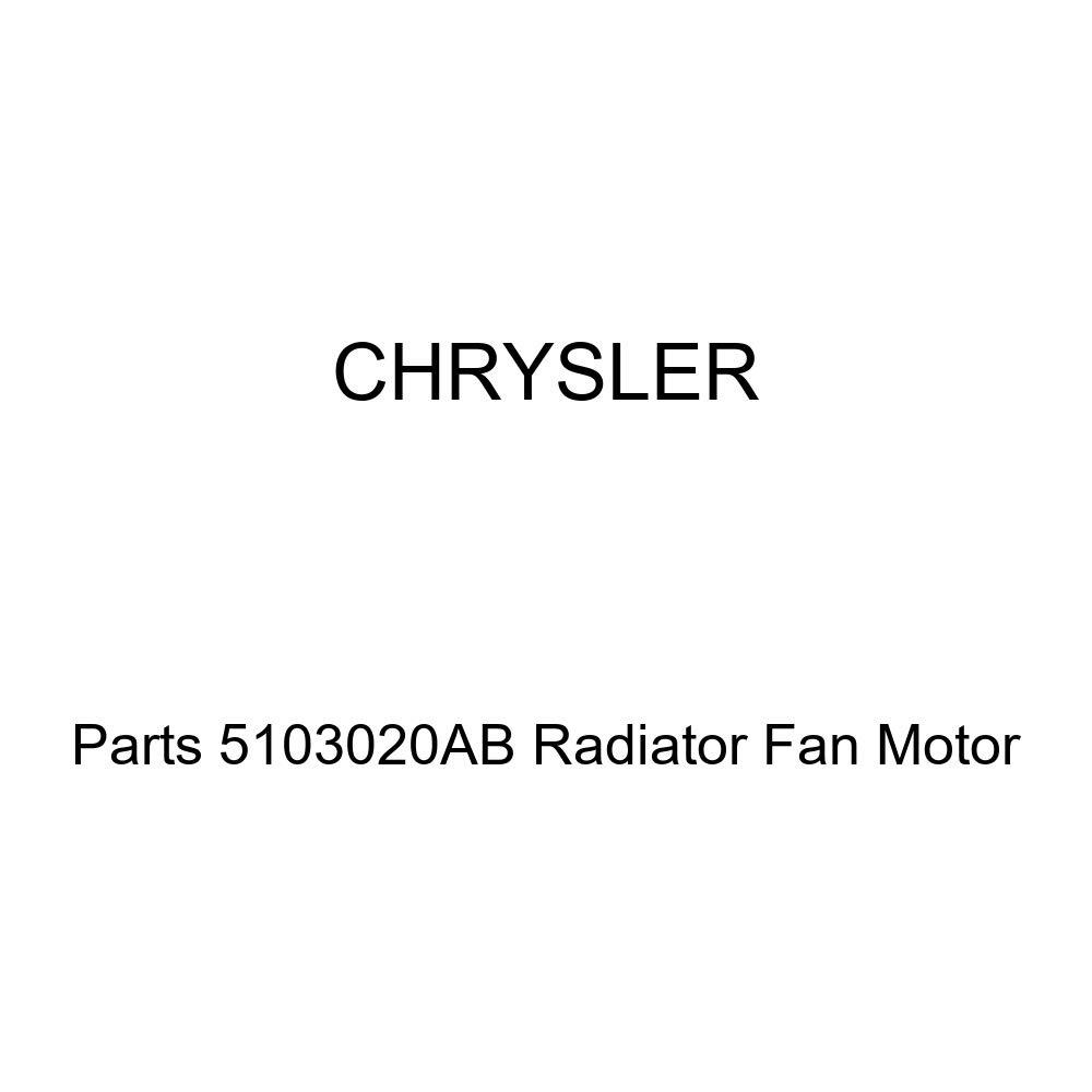 Genuine Chrysler Parts 5103020AB Radiator Fan Motor by Chrysler