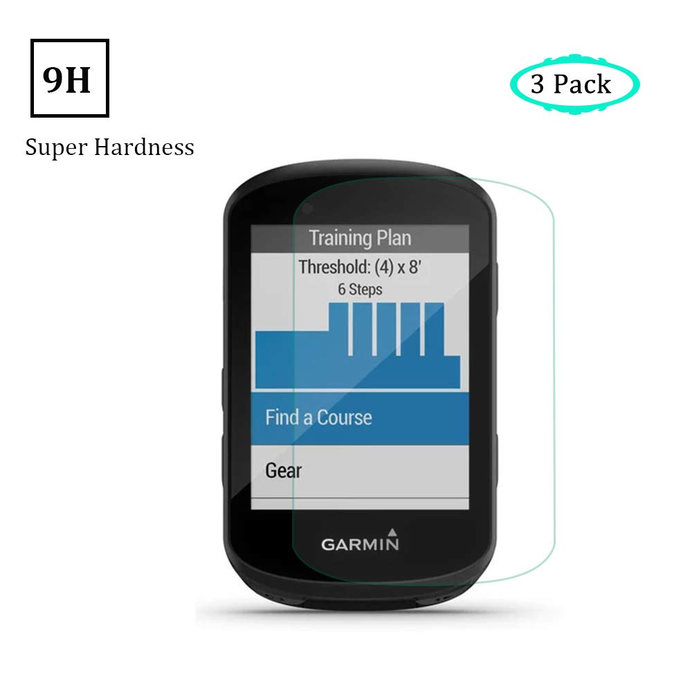 ONGHSD for Garmin Edge 530//830 Screen Protector for Garmin Edge 530,High Definition Scratch Resistant Bubble Free Tempered Glass Film for Garmin 830 Pack of 3