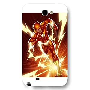 UniqueBox The Flash Custom Phone Case for Samsung Galaxy Note 2, DC comics The Flash Customized Samsung Galaxy Note 2 Case, Only Fit for Samsung Galaxy Note 2 (White Frosted Shell)