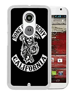 Sons Of Anarchy California TV Series White Recommended Customized Design Motorola Moto X 2nd Generation Case