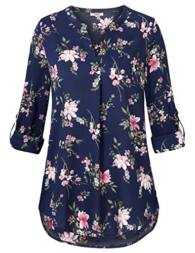 - Women's Work Tops and Blouses,Plus Size Blouse,Timeson Womens Business Tops And Blouses Work Tops For Women Office Long Sleeve Button Down Blouse Casual Business Chiffon Tunic Shirt Blue Pink X-Large