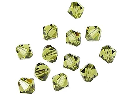 2e9bc5b7a Image Unavailable. Image not available for. Color: 100pcs 3mm Adabele  Austrian Bicone Crystal Beads Khaki Compatible with Swarovski Crystals  Preciosa 5301/ ...