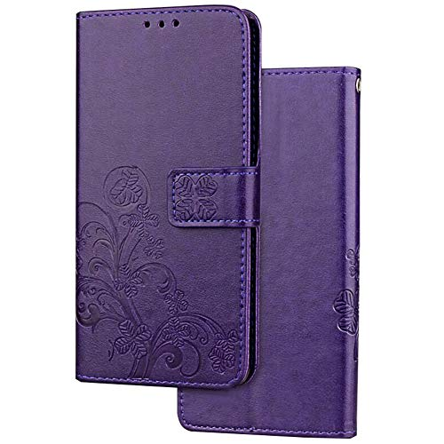 Galaxy S10 Case,Galaxy S10 Wallet Case,WATACHE Luxury PU Leather Flower Protective Flip Folio Case Cover with [Card Slots] [Stand] [Wrist Strap] for Galaxy S10 - Foldable Leather Cover