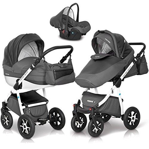 3in1 Kombi Kinderwagen Mondo Ecco Baby Leder Version Alu Tech ...