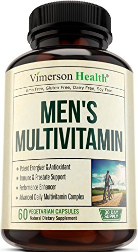 Men's Multivitamin with Zinc + Selenium + Vitamins A C D E + B1 B2 B3 B5 B6 B12 + Spirulina + Calcium + Lutein + Magnesium + Saw Palmetto + Green Tea + Biotin. Natural Non-Gmo Multivitamins for Men (Advanced Garlic Complex compare prices)