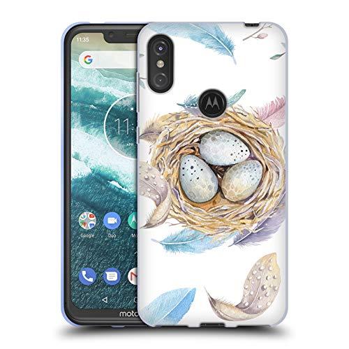 Official Kristina Kvilis Nest Birds Soft Gel Case for Motorola One Power (P30 Note)