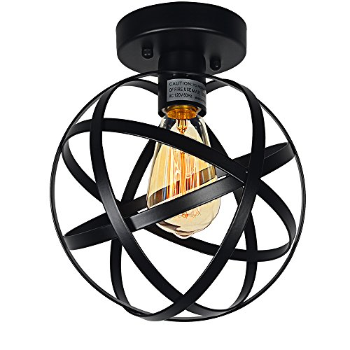 Black Globe Pendant Light - 2