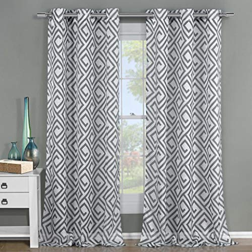 (Duck River Textiles - Home Fashion Sheer Grommet Top Window Curtains for Living Room & Bedroom - Assorted Colors - Set of 2 Panels (51 X 84 Inch -)