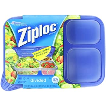Ziploc Container Divided Rectangle 2-Count(Pack of 2)  sc 1 st  Amazon.com & Amazon.com: Ziploc Container Divided Rectangle 2-Count(Pack of 2 ...