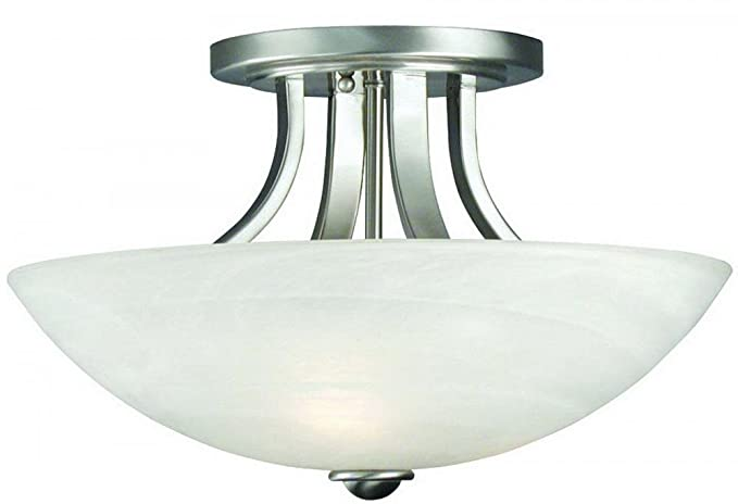 Amazon.com: Dolan diseños 204 Fireside 3 luz Semi-Flush ...