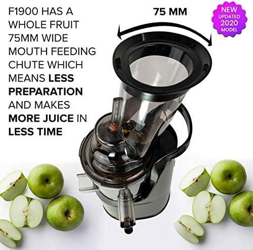 Fruta y Vegetal Cold Press Extractor de Jugo Slow Juicer, Sorbete ...
