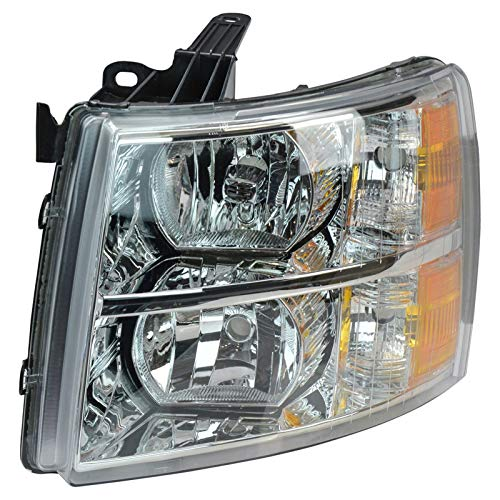 (Headlight Headlamp Driver Side Left LH for 07-14 Chevy Silverado Pickup Truck)