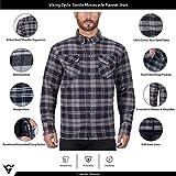 Viking Cycle Motorcycle Flannel Shirt for Biker Men