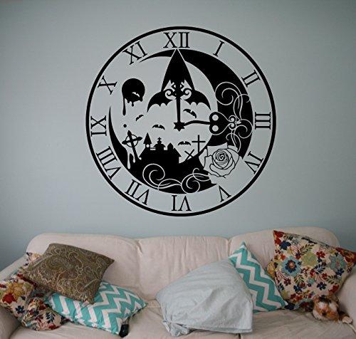Legend of Zelda Clock Wall Decal Video Game Vinyl Sticker Princess Zelda Home Interior Living Room Decor Door Stickers Kids Children Room Idea Bedroom Custom Decals 23(zda)