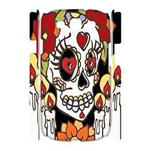 diy 3D Case Cover for Samsung Galaxy S3 I9300 - Sugar Skull Day of the Dead Hard case 3
