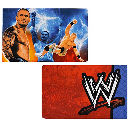 WWE Pillowcases 2pc Wrestling Champions Bedding Accessories (John Cena Pillow)