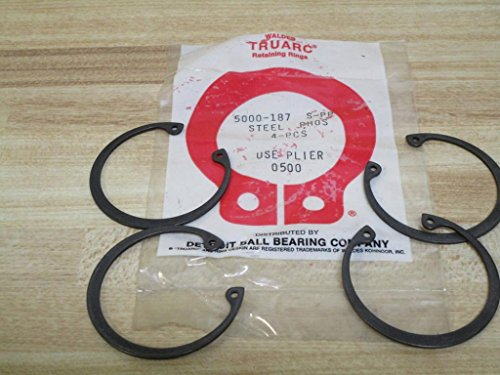 (Waldes Truarc 5000-187 Retaining Rings (Pack of 4))