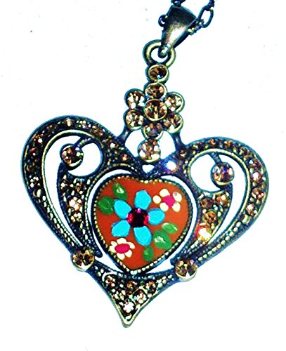 hand-painted-colorful-flower-rhinestone-heart-pendant-necklace