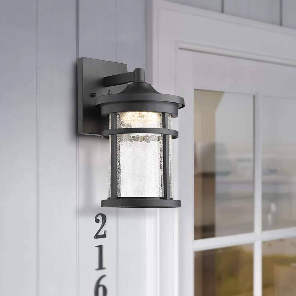 Emliviar 1 Light Outdoor Wall Lantern Led With Crackle