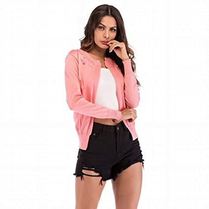 Col Couleur Cardigan Street Tyery Perle Western Pure Rond Hipsters 16npU