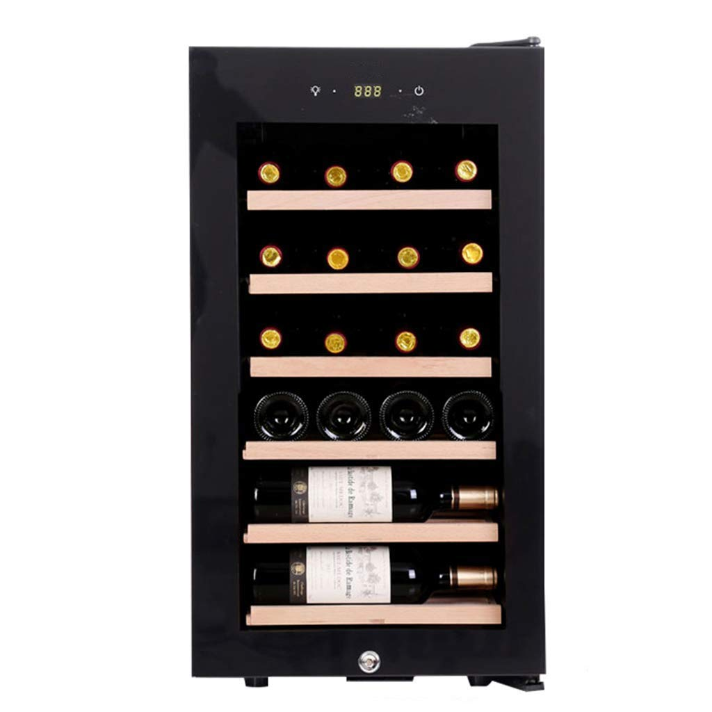 Thermostat cabinet Oceanindw Wine Cooler-Freestanding Wine Cellar Compressor Wine & Cigar Fridge with Digital Temperature Display, with Handle, Pure Oak Sliding Frame, Black by Thermostat cabinet