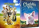 Charlotte's Web & The SANDLOT - DVD Movie Combo Family kid fun set