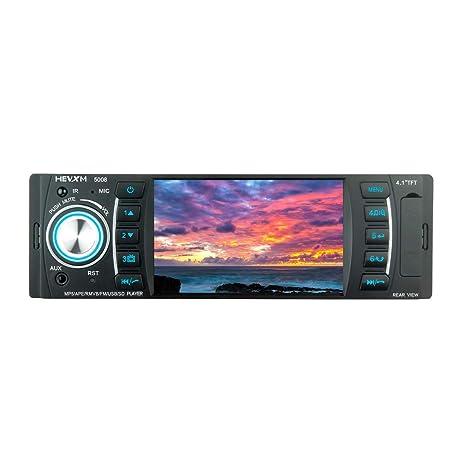 LWTOP Estéreo del Coche, 4.1 Pulgadas HD Coche MP5 Player Bluetooth Manos Libres Llamadas de
