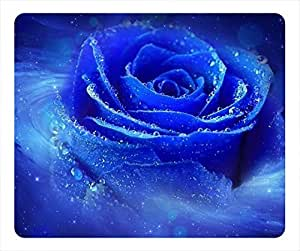 Blue Rose oblong mouse pad by Cases & Mousepads by Maris's Diary
