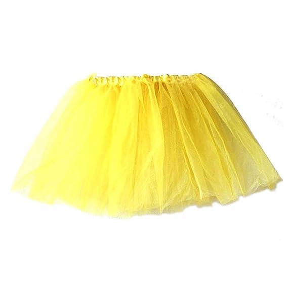 pu ran - Falda - para niña Amarillo Amarillo Regular: Amazon.es ...