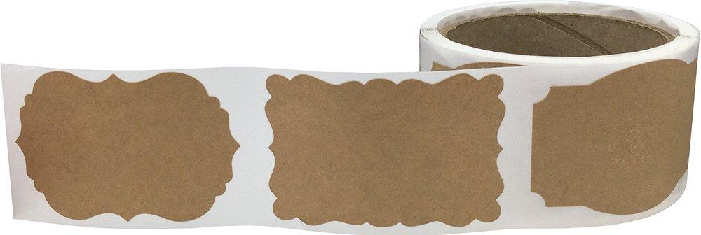 100 Etiketten auf einer Rolle 51 x 76 mm 2 x 3 Zoll Braun Kraft Weihnachten Geschenk Anh/änger Aufkleber