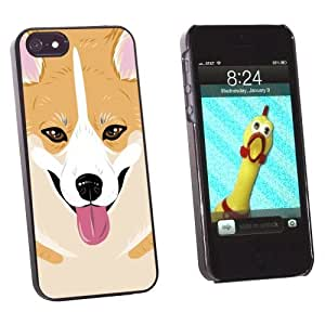 Graphics and More Pembroke Welsh Corgi - Yellow Dog Pet Snap-On Hard Protective Case for Apple iPhone 6 plus 5.5 - Non-Retail Packaging - Black