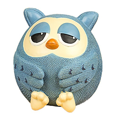 Cute Blue Owl Money Piggy Bank