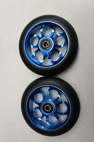 2017 Scooter 110MM Aluminum Core Wheelset W/ Abec 9 Bearings, Blue & Black