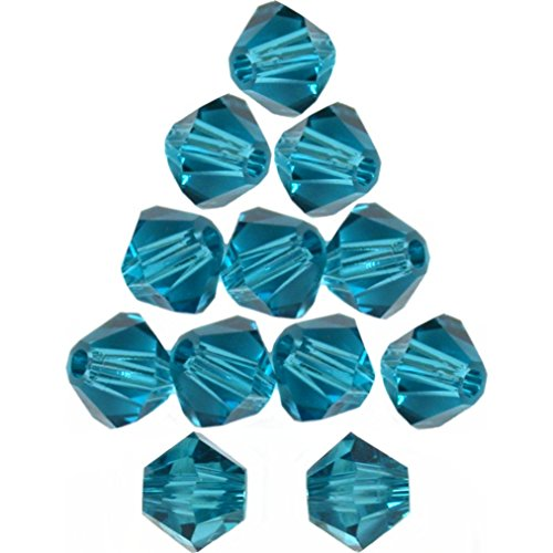 12 Indicolite Bicone Made With Swarovski Crystal Beads 5301 4mm