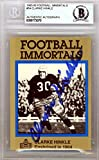 Clarke Hinkle Autographed 1985 Football Immortals Card #54 Green Bay Packers Beckett BAS #9773070