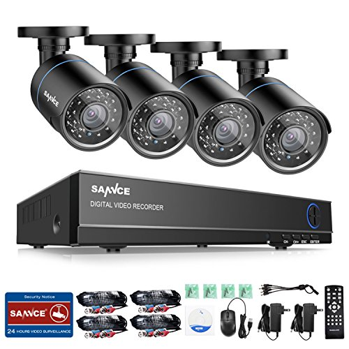 SANNCE 8CH 1080N Security Camera System and  720P Night Visi